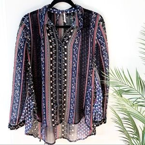 Free People | Silky Sheer Floral Buttondown